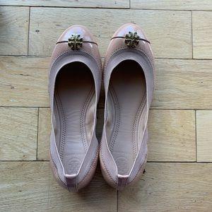 Nude Tory Burch Ballet Flats